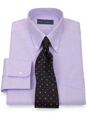 2-Ply Cotton Pinpoint Oxford Button Down Collar Button Cuff Dress Shirt