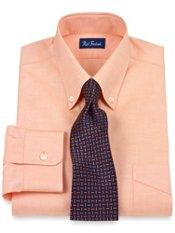 2-Ply Cotton Pinpoint Oxford Button Down Collar Button Cuff Dress Shirt