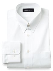 Cotton Pinpoint Oxford Snap Tab Collar Dress Shirt