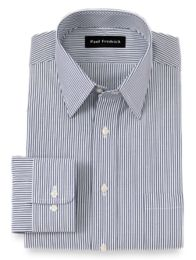 Pinpoint Oxford Traditional Straight Collar Button Cuff Dress Shirt