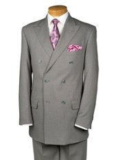 Trim Fit 100% Wool Double-Breasted Suit Separates, All items sold Separately