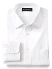 2-Ply Cotton Windsor Spread Collar Dress Shirt