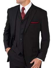 100% Wool Single Breasted Suit Separates, Vest price not included