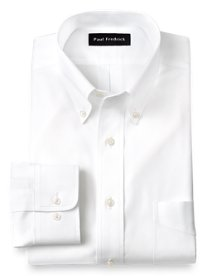 Non-Iron 2-ply 100% Cotton Pinpoint Button Down Collar Dress Shirt