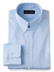 Non-Iron 100% Cotton Pinpoint Oxford Tab Collar Dress Shirt