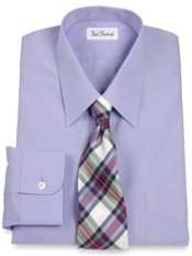 Non-Iron 2-ply Cotton 100% Cotton Straight Collar Dress Shirt