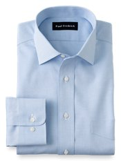 Non-Iron 2-Ply 100% Cotton Pinpoint Windsor Spread Collar Dress Shirt