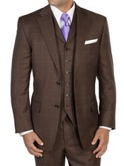 100% Wool Single Breasted Suit Separates, Vest priced separately