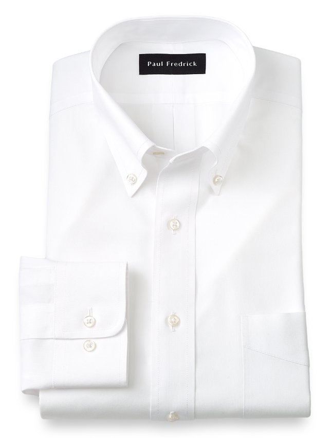 Paul Fredrick Non-Iron Impeccable Cotton Button Down Collar Dress Shirt