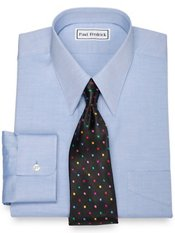 Cotton Pinpoint Oxford European Straight Collar Dress Shirt