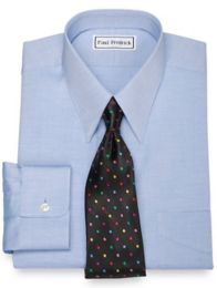 Pinpoint Oxford European Straight Collar Button Cuff Dress Shirt