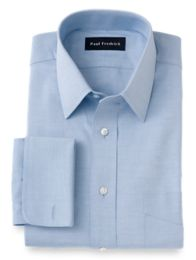 Pinpoint Oxford Traditional Straight Collar French Cuff Dress Shirt