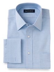 Cotton Pinpoint Oxford Windsor Spread Collar French Cuff Dress Shirt