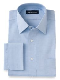 Pinpoint Oxford Windsor Spread Collar French Cuff Dress Shirt