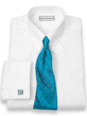 Luxury Cotton Tab Collar French Cuff Dress Shirt