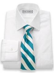 Luxury Cotton Windsor Spread Collar Trim Fit Dress Shirt