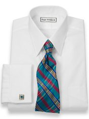 Luxury Cotton Straight Collar French Cuff Trim Fit Dress Shirt