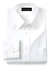 2-Ply Cotton Straight Collar Trim Fit Dress Shirt