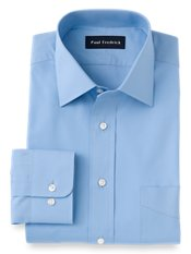 2-Ply Cotton Windsor Spread Collar Trim Fit Dress Shirt