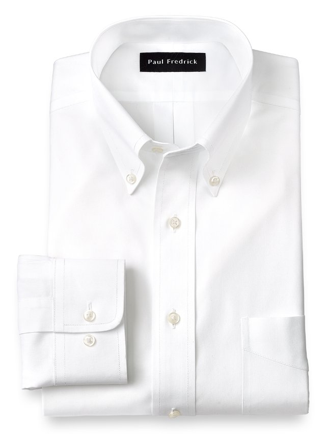 Slim fit non iron cotton pinpoint button down collar dress for Pinpoint button down dress shirt
