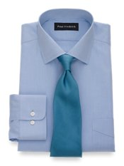 Non-Iron 2-ply 100% Cotton Windsor Spread Collar Trim Fit Dress Shirt