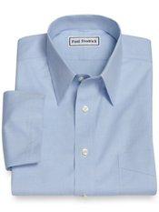 Non-Iron 2-Ply 100% Cotton Straight Collar Short Sleeve Trim Fit Dress Shirt