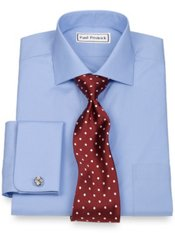 2-Ply Cotton Cutaway Collar French Cuff Trim Fit Dress Shirt