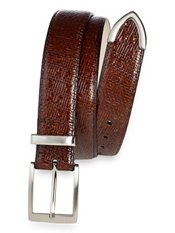 Embossed Woven Leather Belt