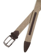 Italian Wool & Suede Tipped Belt