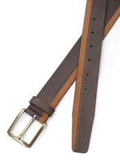 Italian Two Tone Leather & Suede Belt