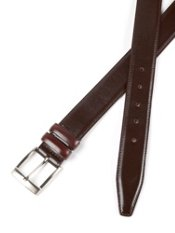 Italian Leather Belt with Double Keeper