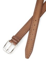 Italian Diamond Pattern Leather Belt