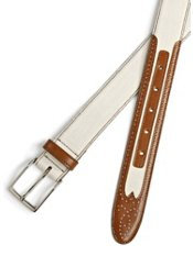 Italian Leather & Canvas Belt