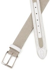 Italian Leather And Canvas Belt