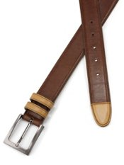 Italian Leather Two Tone Belt