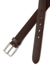 Italian Embossed Leather Belt