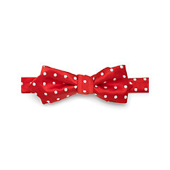 Dot Woven Silk Pre-Tied Bow Tie $15.00 AT vintagedancer.com