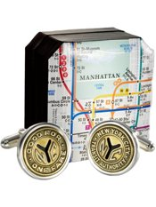 Genuine New York City Transit Token Cufflinks
