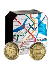 Genuine Boston Transit Token Cufflinks