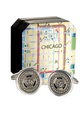 Genuine Chicago Transit Token Cufflinks