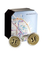Genuine San Francisco Transit Token Cufflinks