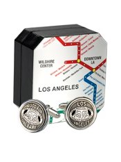 Authentic L.A. Transit Token Cufflink