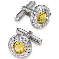 Swarovski Crystal Stone Cufflink $50.00 AT vintagedancer.com