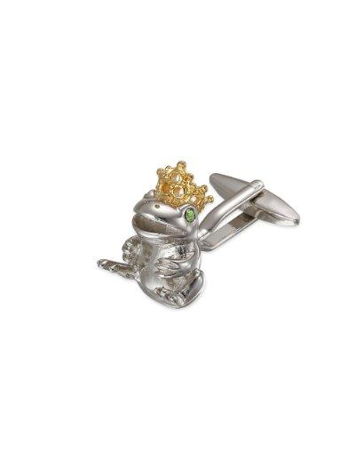 Paul Fredrick Mens Metal Prince Charming Frog Cufflinks