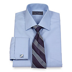 Luxury 140s Egyptian Cotton Solid Spread Collar French Cuff Dress Shirt $40.00 AT vintagedancer.com
