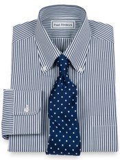 2-Ply Cotton Bengal Stripe Buttondown Collar Dress Shirt