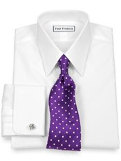 Premium Cotton Straight Collar French Cuff Dress Shirt
