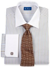 Trim Fit Premium Cotton White Collar & French Cuffs Dress Shirt