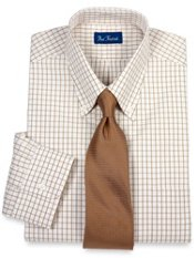 Classic Grid Pattern Dress Shirt