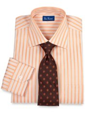 Raised Satin Stripe European Style Dress Shirt